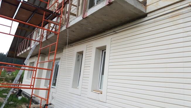 Отделка фасадов домов из газобетонных блоков